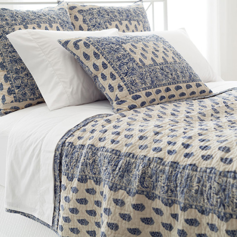 Pine Cone Hill, Inc. - Annette Blue Quilt in Full/Queen - Q268FQ