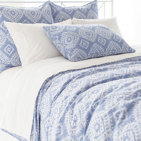 Pine Cone Hill, Inc. - Ramala French Blue Duvet Cover in Full/Queen - RFBDCQ