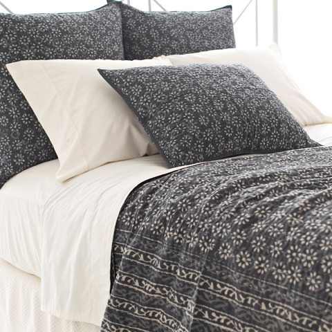 Pine Cone Hill, Inc. - Resist Floral Grey Coverlet - RFGKB108