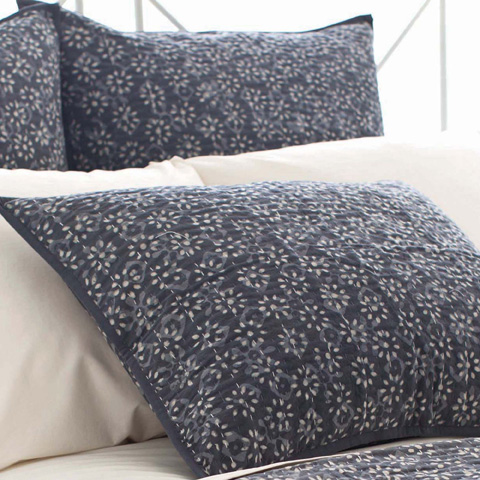 Pine Cone Hill, Inc. - Resist Floral Grey Sham-Standard - RFGKSS