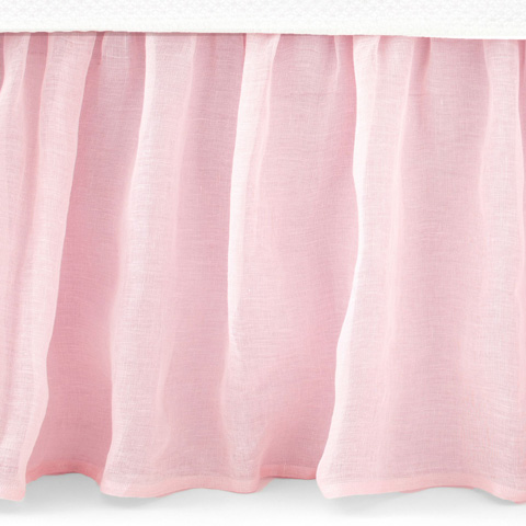 Pine Cone Hill, Inc. - Savannah Linen Gauze Blush Bed Skirt in Queen - SABLBSQ