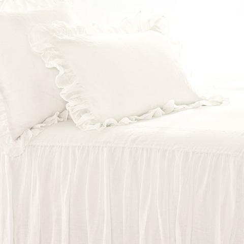 Pine Cone Hill, Inc. - Savannah Linen Gauze Ivory Sham-Standard - SAISHS