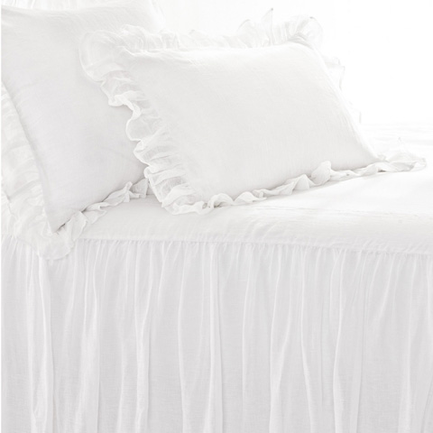 Pine Cone Hill, Inc. - Savannah Linen Gauze White Bedspread in Queen - SAWBCQ
