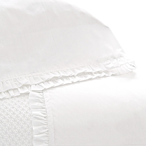 Pine Cone Hill, Inc. - Classic Ruffle White Pair of King Pillowcases - SCCSK