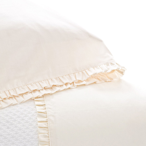 Pine Cone Hill, Inc. - Classic Ruffle Ivory Pair of King Pillowcases - SCICSK