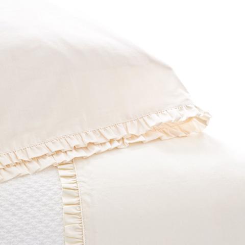 Pine Cone Hill, Inc. - Classic Ruffle Ivory Sheet Set in Queen - SCISQ