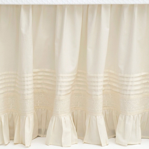 Pine Cone Hill, Inc. - Louisa Ivory Bed Skirt in Queen - SELSIBSQ