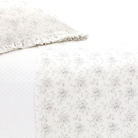 Pine Cone Hill, Inc. - Sweet Roses Grey Sheet Set in Queen - SRTQ
