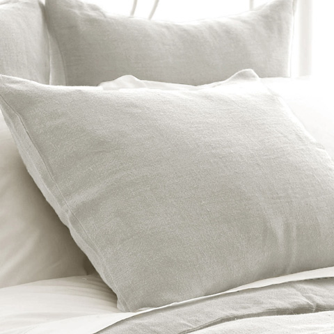 Pine Cone Hill, Inc. - Stone Washed Linen Pearl Grey Sham-Standard - SWLPSHS