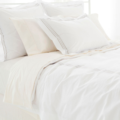 Pine Cone Hill, Inc. - Trio Linen Duvet Cover in King - TRLDCK