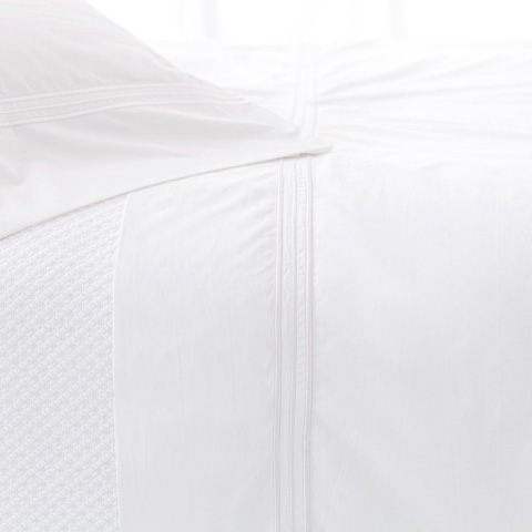 Pine Cone Hill, Inc. - Trio White Flat Sheet in King - TRWFK