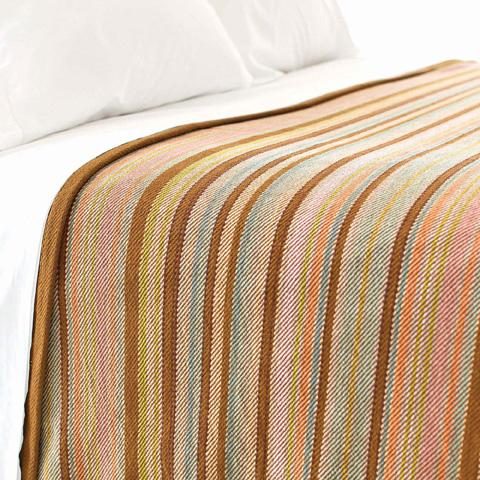 Pine Cone Hill, Inc. - Zanzibar Ticking Blanket in King - ZANK