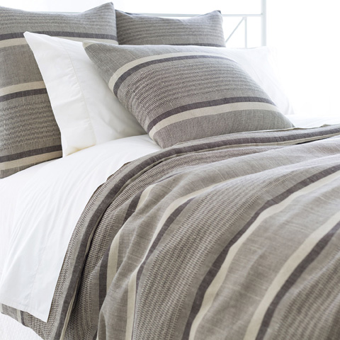 Image of Morocco Linen Java Duvet Cover in Queen