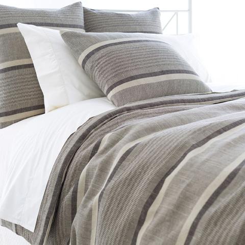 Image of Morocco Linen Java Duvet Cover in Queen