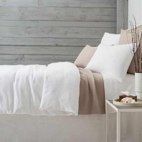 Image of Montauk White Duvet Cover in Queen