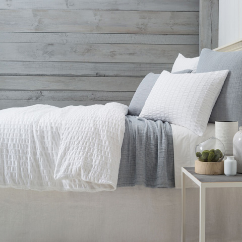 Image of Tidal White Duvet Cover in Queen