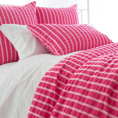 Image of Parker Fuchsia Duvet Cover in Queen