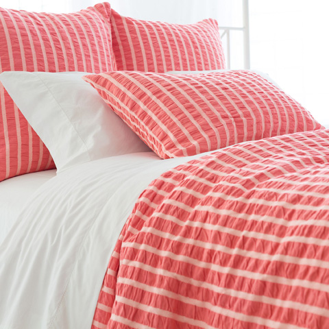 Image of Parker Coral Duvet Cover in Queen