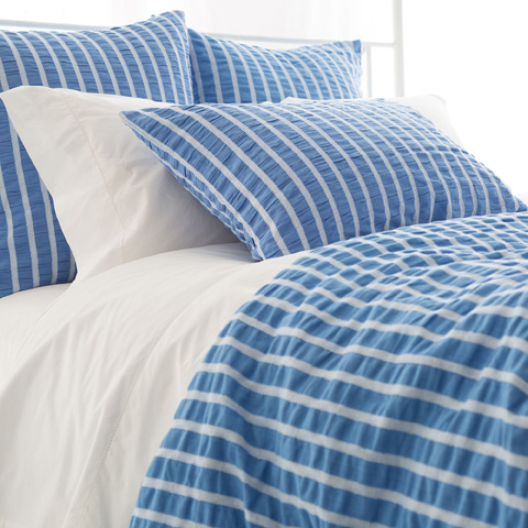 Image of Parker French Blue Duvet Cover in Queen