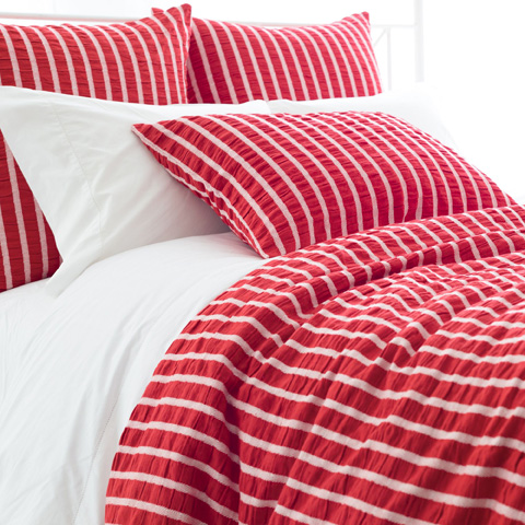 Image of Parker Red Duvet Cover in Queen