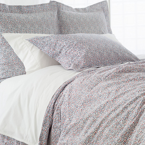 Image of Confetti Red and Blue Duvet Cover in Queen