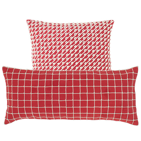 Image of Chadna Red Decorative Pillow