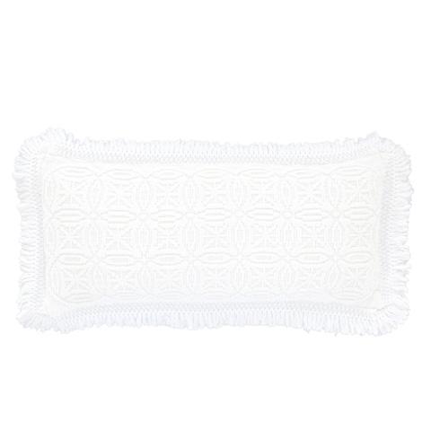 Image of Anka White Decorative Pillow