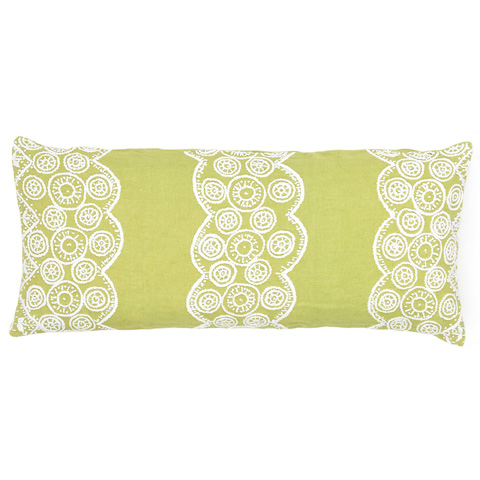 Image of French Knot Citrus Decorative Pillow