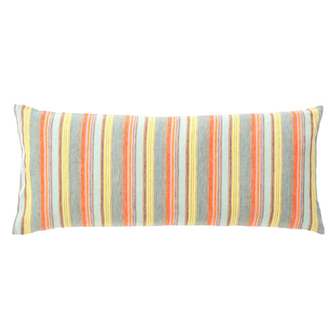 Image of Lyric Stripe Linen Decorative Pillow