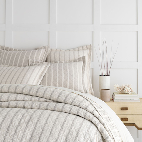 Image of Wainscott Natural Reversible Queen Coverlet