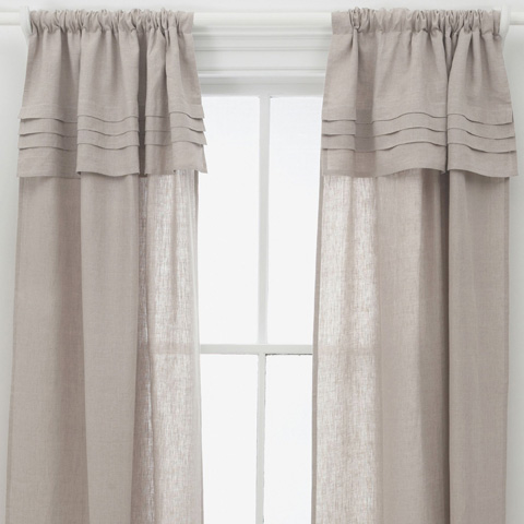 Image of Pleated Linen Natural Window Panel