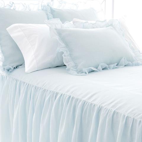 Image of Savannah Linen Chambray Sky Queen Bedspread