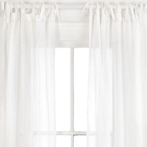 Image of Savannah Linen Gauze White Window Panel