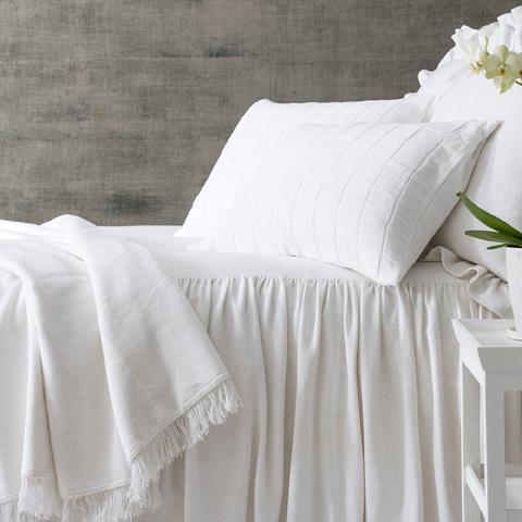 Image of Wilton White Cotton Queen Bedspread