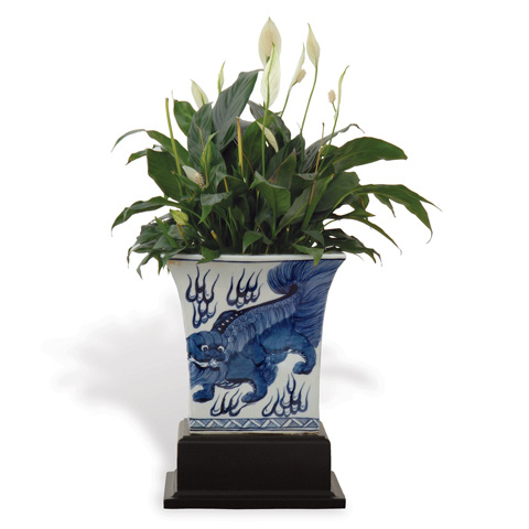 Port 68 - Chow Blue Square Planter with Stand - ACBS-059-04