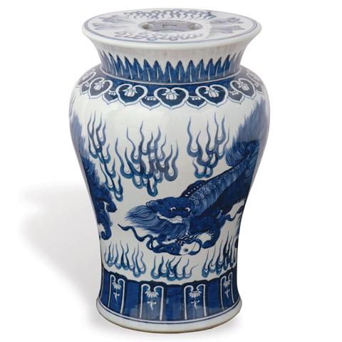 Port 68 - Chow Blue Garden Stool - ACFS-059-03