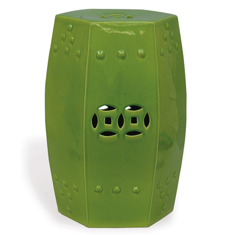 Port 68 - Apple Green Garden Seat - ACFS-109-03