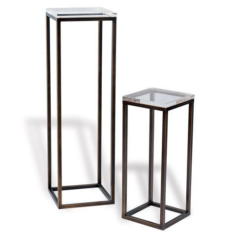 Port 68 - Set of Two Drake Bronze and Lucite Pedestals - AFFM-142-04