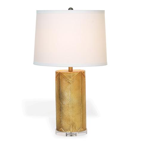 Port 68 - Westwood Gold Lamp with Cream Shade - LPAS-072-02