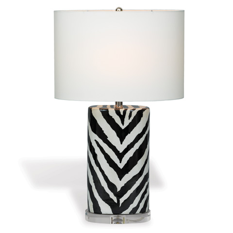 Port 68 - Kenya Oval Lamp in Black - LPAS-111-02