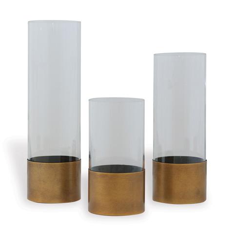 Port 68 - Evanston Clear Vases (Set Of 3) - ACBM-260-04