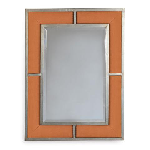Port 68 - Bedford Silver Tangerine Linen Mirror - ACFS-272-15