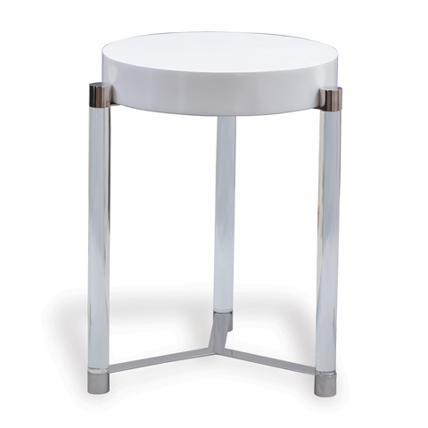Port 68 - Maxwell White Accent Table - AFDS-253-05