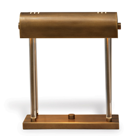 Port 68 - Banker's Brass Lamp - LPAS-240-04