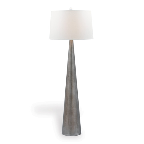 Image of Camden Cone Silver Floor Lamp