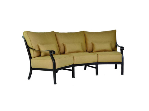 Image of Three Cushion Crescent Sofa