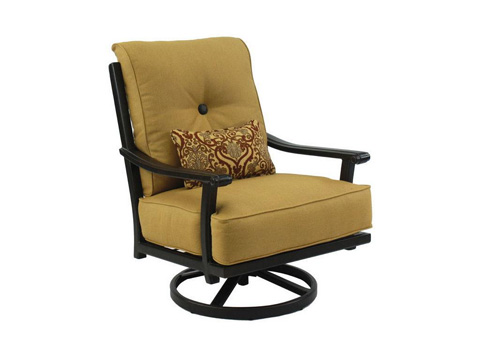 Castelle - Chateau High Back Cushioned Lounge Swivel Rocker - 1216T