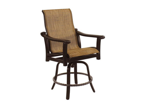Castelle - Chateau High Back Sling Swivel Counter Stool - 1299MS
