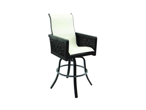 Image of Spanish Bay High Back Sling Swivel Barstool