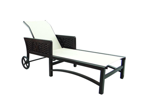 Image of Spanish Bay Adjustable Sling Chaise Lounge